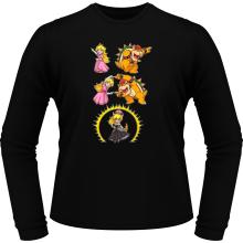 T-Shirts à manches longues  parodique Princesse Peach;Bowser et Bowsette : Bowsette Fusion ! (Parodie )