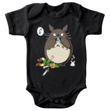 Body bébé  parodique Link et Totoro : C