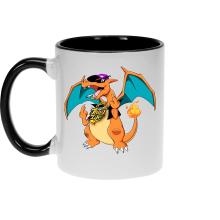Mug  parodique Jeux Vidéo - Parodie de Dracaufeu de Pokémon : DracauThug...! (Parodie )