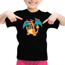 T-shirt Enfant Fille  parodique Jeux Vidéo - Parodie de Dracaufeu de Pokémon : DracauThug...! (Parodie )