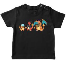 T-shirt bébé  parodique Dracaufeu, Salamèche et Reptincel : Dragon Evolution (Parodie )