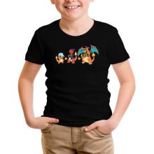 T-shirt Enfant  parodique Dracaufeu, Salamèche et Reptincel : Dragon Evolution (Parodie )