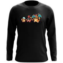 T-Shirt à manches longues  parodique Dracaufeu, Salamèche et Reptincel : Dragon Evolution (Parodie )