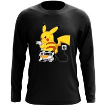 T-Shirt à manches longues  parodique Pikachu : En Charge... Ne pas déranger ! (Parodie )
