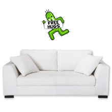 Sticker Mural  parodique Pampa - Free Hugs : Free Hugs :) (Parodie )