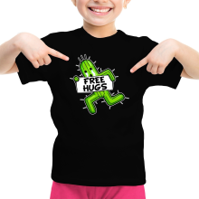 T-shirt Enfant Fille  parodique Pampa - Free Hugs : Free Hugs :) (Parodie )