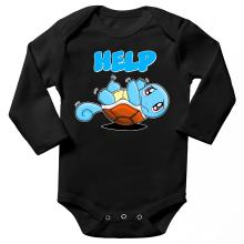 Body bébé manches longues  parodique Carapuce : Help !!! (Parodie )