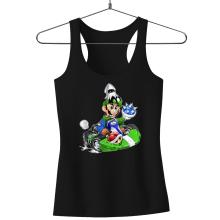 Débardeur Femme  parodique Luigi : Kart Fighter - Player 2 (Parodie )
