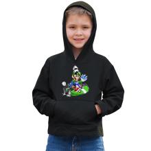 Sweat à capuche Enfant  parodique Luigi : Kart Fighter - Player 2 (Parodie )