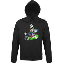 Sweats à capuche  parodique Luigi : Kart Fighter - Player 2 (Parodie )