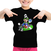 T-shirt Enfant Fille  parodique Luigi : Kart Fighter - Player 2 (Parodie )