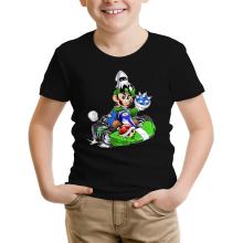 T-shirt Enfant  parodique Luigi : Kart Fighter - Player 2 (Parodie )