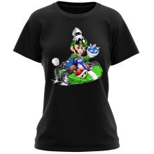 T-shirt Femme  parodique Luigi : Kart Fighter - Player 2 (Parodie )