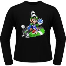 T-Shirts à manches longues  parodique Luigi : Kart Fighter - Player 2 (Parodie )