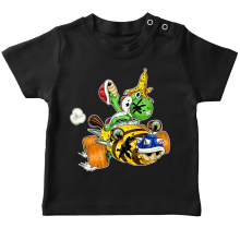 T-shirt bébé  parodique Yoshi : Kart Fighter - Player 3 (Parodie )