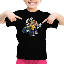 T-shirts  parodique Bowser : Kart Fighter - Player 5 (Parodie )