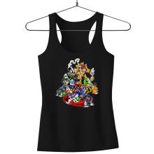 Débardeur Femme  parodique Mario, Luigi, Yoshi et Bowser : Kart Fighter Racing (Parodie )