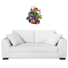 Décorations murales  parodique Mario, Luigi, Yoshi et Bowser : Kart Fighter Racing (Parodie )