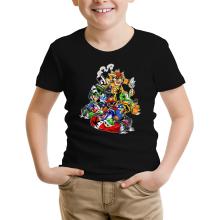 T-shirt Enfant  parodique Mario, Luigi, Yoshi et Bowser : Kart Fighter Racing (Parodie )