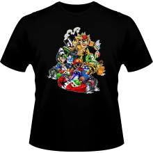 T-shirts  parodique Mario, Luigi, Yoshi et Bowser : Kart Fighter Racing (Parodie )