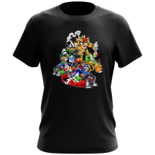 T-shirt  parodique Mario, Luigi, Yoshi et Bowser : Kart Fighter Racing (Parodie )