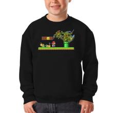 Sweat-shirts  parodique Donatello,Leonardo,Raphael, Michelangelo et Mario : La Revanche des Tortues ! (Parodie )