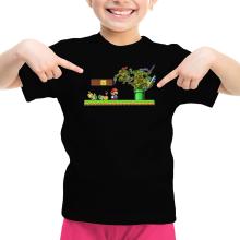 T-shirts  parodique Donatello,Leonardo,Raphael, Michelangelo et Mario : La Revanche des Tortues ! (Parodie )