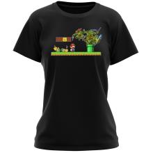 T-shirt Femme  parodique Donatello,Leonardo,Raphael, Michelangelo et Mario : La Revanche des Tortues ! (Parodie )
