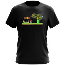 T-shirt  parodique Donatello,Leonardo,Raphael, Michelangelo et Mario : La Revanche des Tortues ! (Parodie )