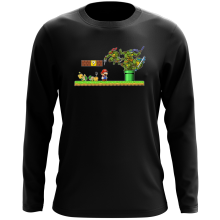 T-Shirt à manches longues  parodique Donatello,Leonardo,Raphael, Michelangelo et Mario : La Revanche des Tortues ! (Parodie )