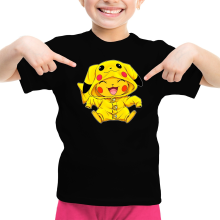 T-shirt Enfant Fille  parodique Pikachu : Le Cosplayer ultime !! (Parodie )