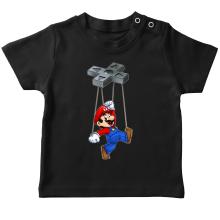 T-shirt bébé  parodique Mario : Mario-nette ON (Parodie )