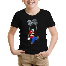 T-shirt Enfant  parodique Mario : Mario-nette ON (Parodie )