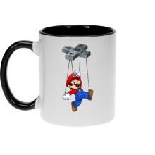 Mug  parodique Mario : Mario-nette ON (Parodie )