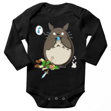 Body bébé manches longues  parodique Totoro et Link : Ni Vu ni connu... (Parodie )