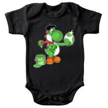 Body bébé  parodique Yoshi : Peinture fraîche... ;) (Parodie )