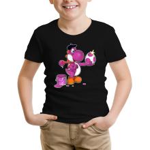 T-shirts  parodique Yoshi Violet : Peinture fraîche... (Version violet) (Parodie )