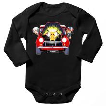 Body bébé manches longues  parodique Pikachu, Sasha et Aurore : Pika dépannage (Parodie )