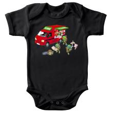 Body bébé  parodique Mario; Luigi; Leonardo, Raphael, Donatello et Michelangelo : Pizza Party ! (Parodie )