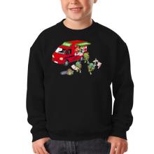 Sweat-shirts  parodique Mario; Luigi; Leonardo, Raphael, Donatello et Michelangelo : Pizza Party ! (Parodie )
