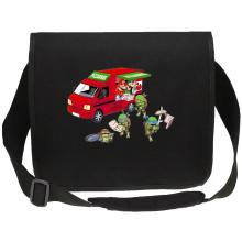 Sac bandoulière Canvas  parodique Mario; Luigi; Leonardo, Raphael, Donatello et Michelangelo : Pizza Party ! (Parodie )