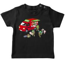 T-shirt bébé  parodique Mario; Luigi; Leonardo, Raphael, Donatello et Michelangelo : Pizza Party ! (Parodie )