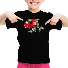 T-shirt Enfant Fille  parodique Mario; Luigi; Leonardo, Raphael, Donatello et Michelangelo : Pizza Party ! (Parodie )