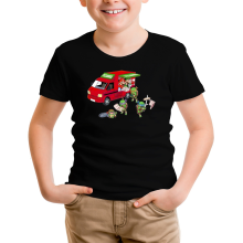 T-shirt Enfant  parodique Mario; Luigi; Leonardo, Raphael, Donatello et Michelangelo : Pizza Party ! (Parodie )