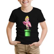T-shirt Enfant  parodique Princesse Peach se prenant pour Marylin Monroe : Poupoupidou Pou :) (Parodie )