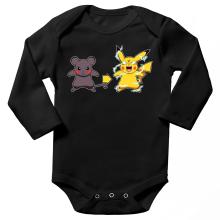 Body bébé manches longues  parodique Pikachu mode Super Saiyan : Super Sourijin !! (Parodie )