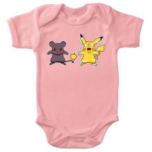 Body bébé (Filles)  parodique Pikachu mode Super Saiyan : Super Sourijin !! (Parodie )