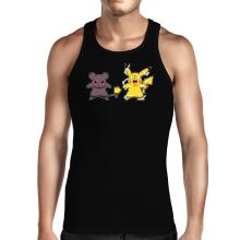Débardeur  parodique Pikachu mode Super Saiyan : Super Sourijin !! (Parodie )