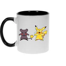 Mugs  parodique Pikachu mode Super Saiyan : Super Sourijin !! (Parodie )