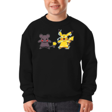 Sweat-shirts  parodique Pikachu mode Super Saiyan : Super Sourijin !! (Parodie )